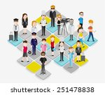 people in different occupation...   Shutterstock .eps vector #251478838
