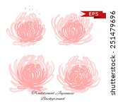 pink chrysanthemum illustration ... | Shutterstock .eps vector #251479696