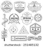set of vector black and white... | Shutterstock .eps vector #251485132