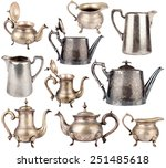 Collection Of Antique Teapots...