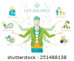 concept of work and life... | Shutterstock .eps vector #251488138