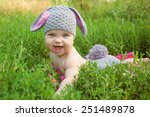 Easter Bunny Baby In Green...