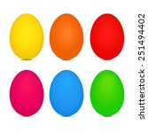 vector file of easter eggs | Shutterstock .eps vector #251494402