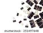 office paper clips and documents | Shutterstock . vector #251497648