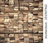 vintage square logs  | Shutterstock . vector #251507962