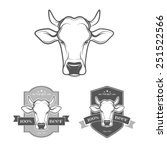 set of beef and barbecue badges ... | Shutterstock .eps vector #251522566
