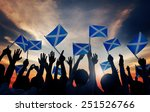 group of people waving scottish ... | Shutterstock . vector #251526766