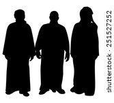 men silhouette vector  isolated | Shutterstock .eps vector #251527252
