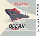ocean freight shipping and... | Shutterstock .eps vector #251528302