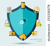 data protection concept with... | Shutterstock .eps vector #251530378