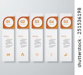 design clean number banners... | Shutterstock .eps vector #251536198