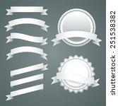 vector set of white paper... | Shutterstock .eps vector #251538382