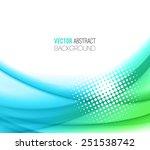 vector abstract waves ...   Shutterstock .eps vector #251538742