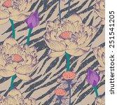 seamless floral pattern hipster ... | Shutterstock .eps vector #251541205