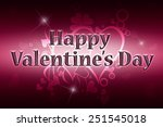 greeting card happy valentine's ... | Shutterstock . vector #251545018