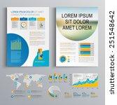 white brochure template design... | Shutterstock .eps vector #251548642