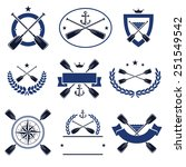paddle labels and elements set. ... | Shutterstock .eps vector #251549542