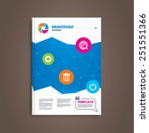 brochure or flyer design. globe ...   Shutterstock .eps vector #251551366
