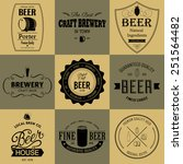 retro set styled label of beer. ... | Shutterstock .eps vector #251564482