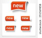 vector set of folded signs... | Shutterstock .eps vector #251569858