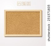 Vector Pinboard In A Wooden...