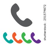 telephone receiver vector icon. ...