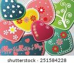 happy valentines day   Shutterstock .eps vector #251584228