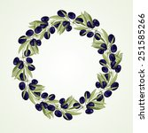 olive wreath   vector...