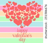 pattern of hearts in colorful... | Shutterstock .eps vector #251586676