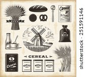 vintage cereal set. fully... | Shutterstock .eps vector #251591146