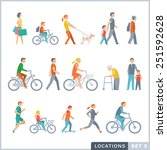 people on the street. neighbors.... | Shutterstock .eps vector #251592628