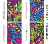 vector set of four hand drawing ... | Shutterstock .eps vector #251596246