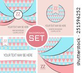 vector set of four cards... | Shutterstock .eps vector #251596252