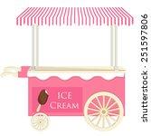 ice cream pink cart vector icon ...   Shutterstock .eps vector #251597806