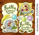 beautiful hand  drawn banners... | Shutterstock .eps vector #251599246