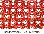 white hearts on a black... | Shutterstock . vector #251603986