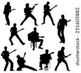Set Of Guitar Player...