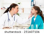doctor check throat of little