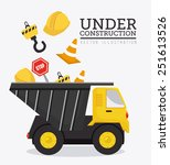construction design over white... | Shutterstock .eps vector #251613526