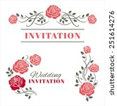 design elements with roses.... | Shutterstock .eps vector #251614276