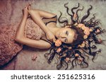 Girl With A Circlet Of Flowers...
