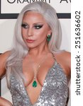 los angeles   feb 8   lady gaga ... | Shutterstock . vector #251636602