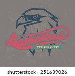 new york basketball logo and t... | Shutterstock .eps vector #251639026