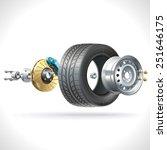 anatomy of a vehicle wheel... | Shutterstock . vector #251646175