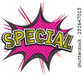 special comic speech bubble | Shutterstock .eps vector #251647015