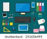 flat multicolored design.... | Shutterstock .eps vector #251656495