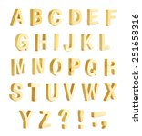 yellow varnished wooden abc... | Shutterstock . vector #251658316
