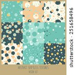set of nine polka dot seamless... | Shutterstock .eps vector #251658496