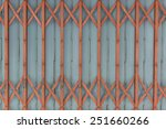 Folding Old Red Metal Door Gate