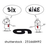 two points of view. joe and... | Shutterstock .eps vector #251668492